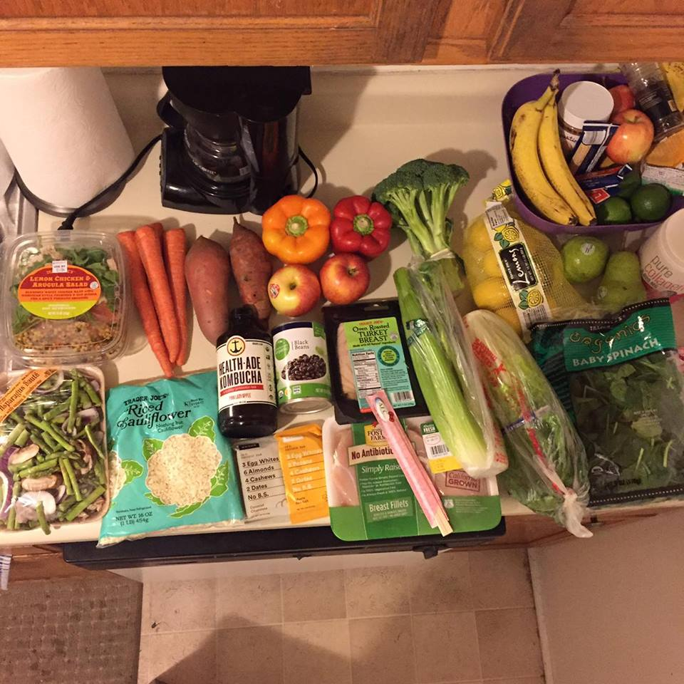 This was my grocery haul this week. I went to Trader Joes and Ralphs for all these goods. Not everything in the photo is mentioned below... just the stuff I talk about prepping.