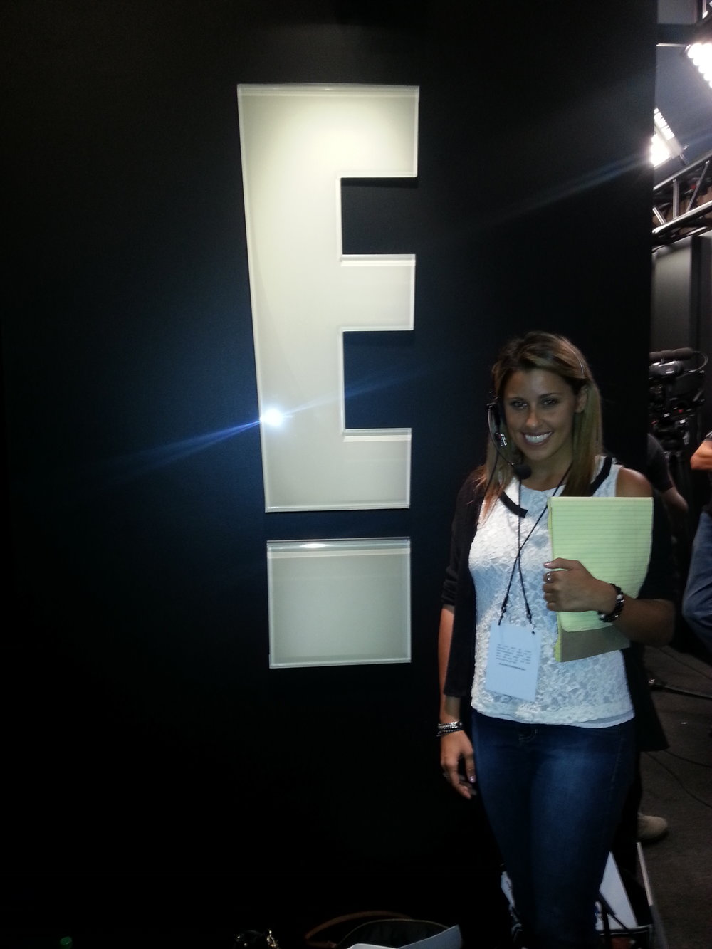 Working my very first award show at E! August 2014