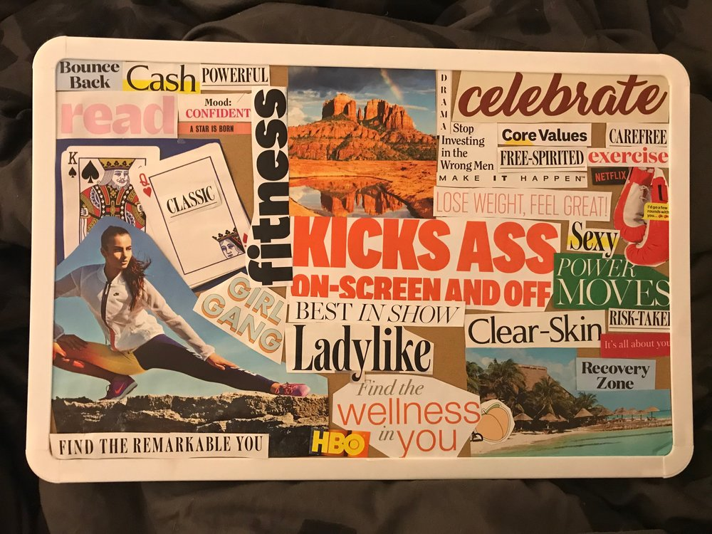 My best friend's 2019 vision board