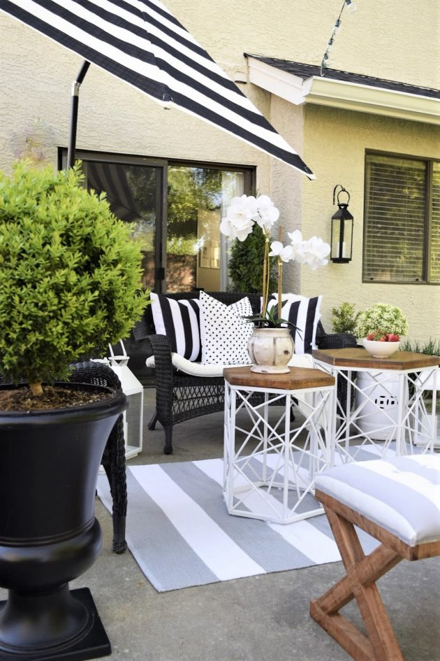 HomeGoods Black and White Patio