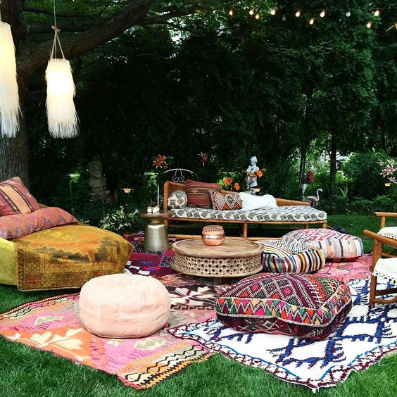 Turkish Rug Backyard Party