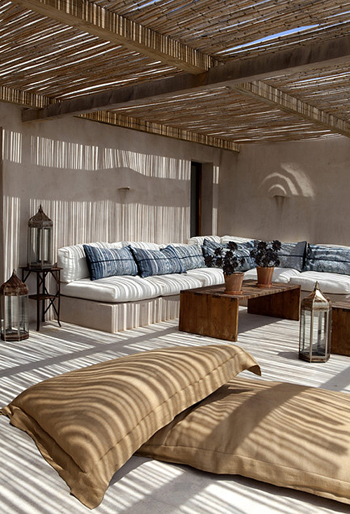 Linen and Denim Boho Backyard