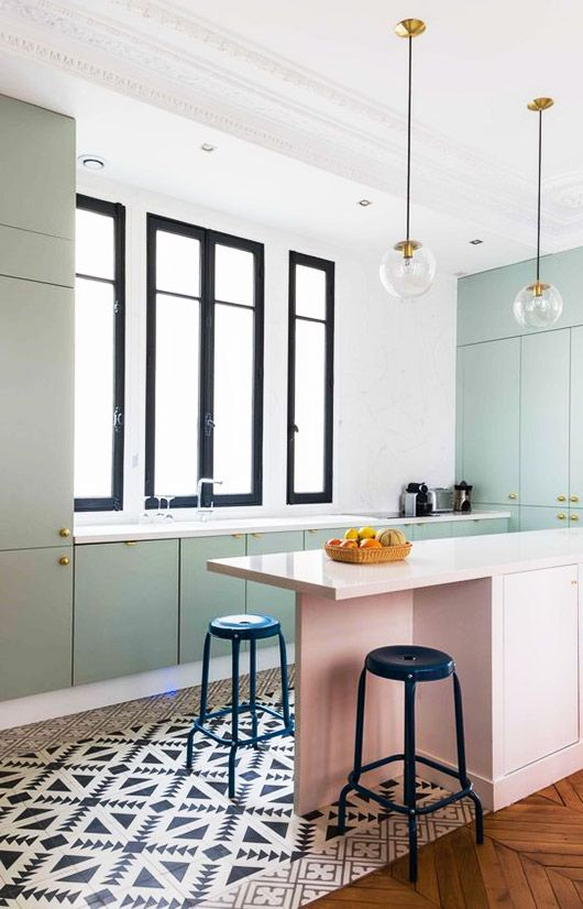 Modern Pastel Kitchen
