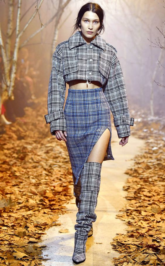 Off White Plaid Runway Trend 2017
