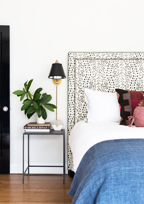 monochromatic and subtle enough yet as a headboard, this print popS!