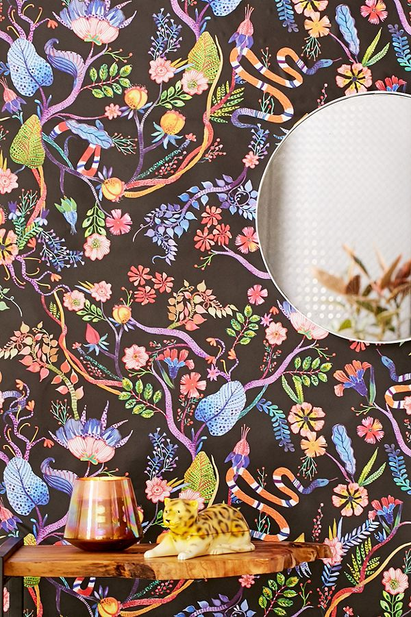 whimsical floral wallpaper - Urban Outfitters $39