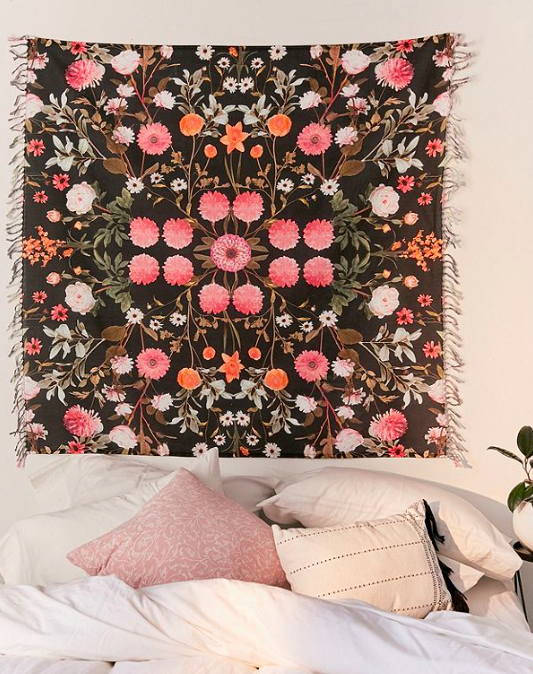 FLORAL WALL TAPESTRY - Urban Outfitters $39
