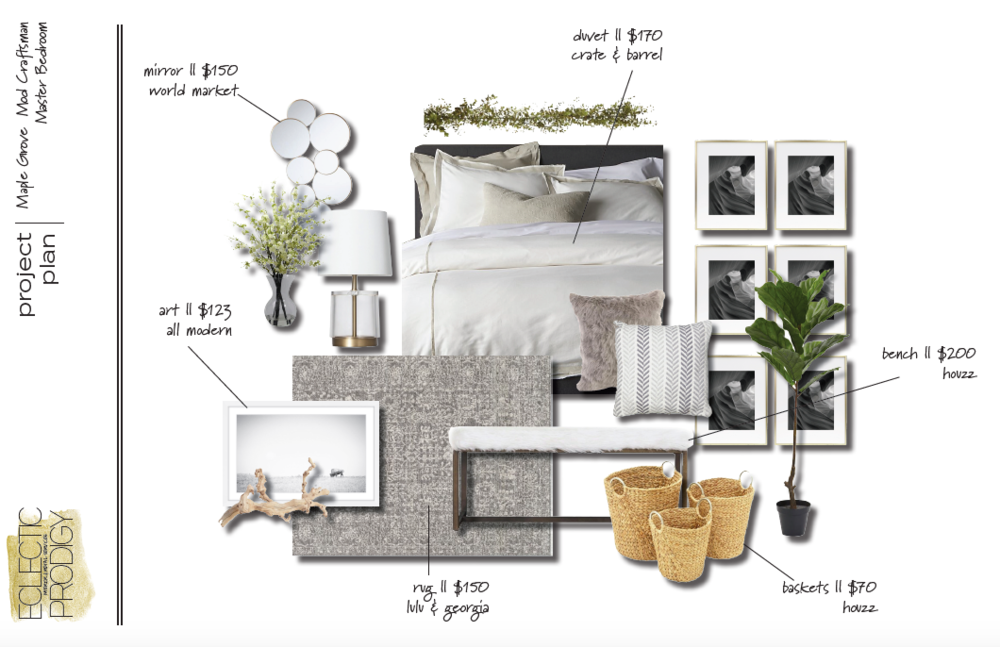 MASTER BEDROOM CONCEPT BOARD [ 1 ]