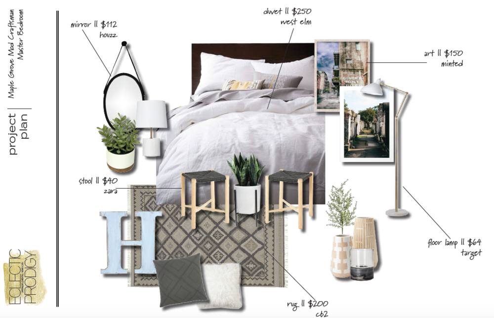 MASTER BEDROOM CONCEPT BOARD [ 2 ]