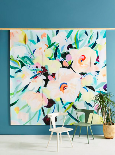 picturesque floral mural - Anthropologie  $228