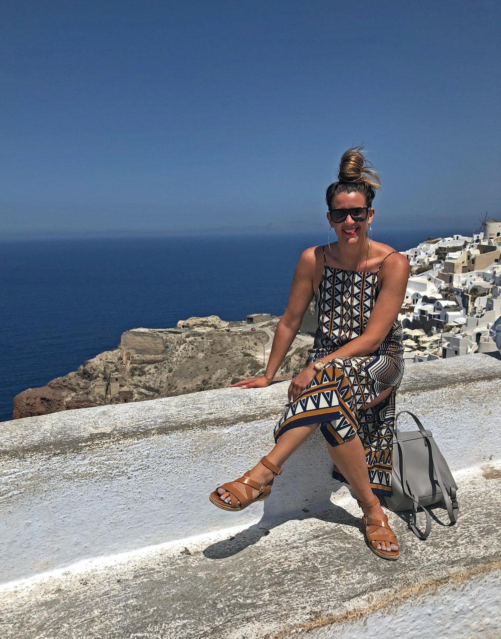 Oias Castle Sunset Santorini // Eclectic Prodigy