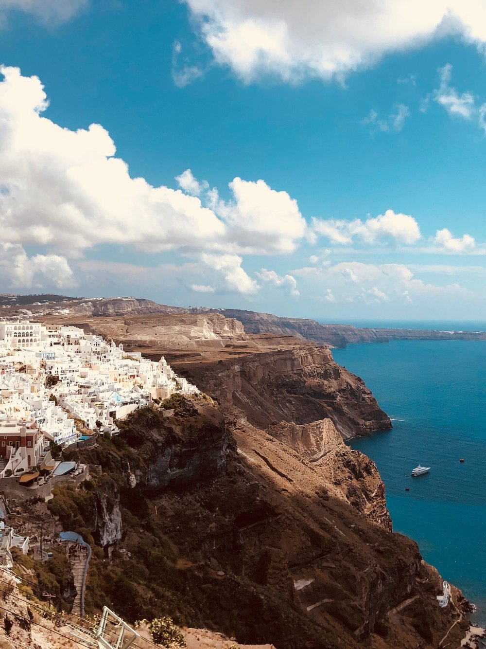 before you go... - Don't expect to find an extensive range of activities or dining options here. As it is about a two hour trek from Oia, it's close enough to Fira that it's worth the walk for oustanding caldera views and visibility to other picturesque architecture.