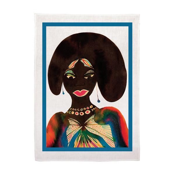 afromuses tea towel - LACMA || $40