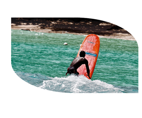 The locals claim this is the best spot in Jamaica, and it's right next to Great Huts! Gentle waves come in consistently, left-handed at the beginning of the day, right-handed at the end. Ask about lessons at Reception. You can rent a board at the Boston Beach club.