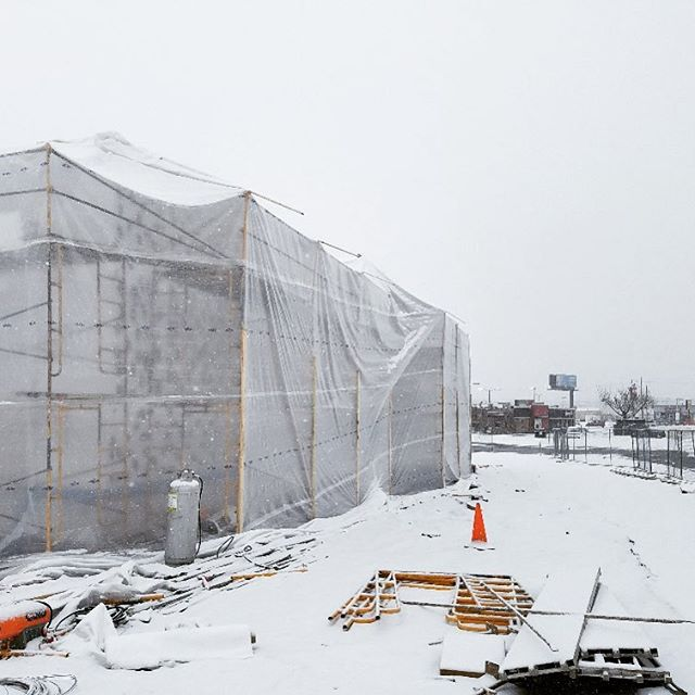 🌨❄️☃️It's a snowy day filled with traffic issues here in Berks County, but that's not stopping the LVC team!  Showing up and doing work on the NEW Popeye's located on the 5th Street Highway in Reading!☃️❄️🌨 #longviewconstruction #longviewbuilds #buildingrelationships #generalconstruction #constructionmanager #restaurantconstruction #popeyes #fastfood #winter #berkscounty #ReadingPA #repost #follow #picoftheday