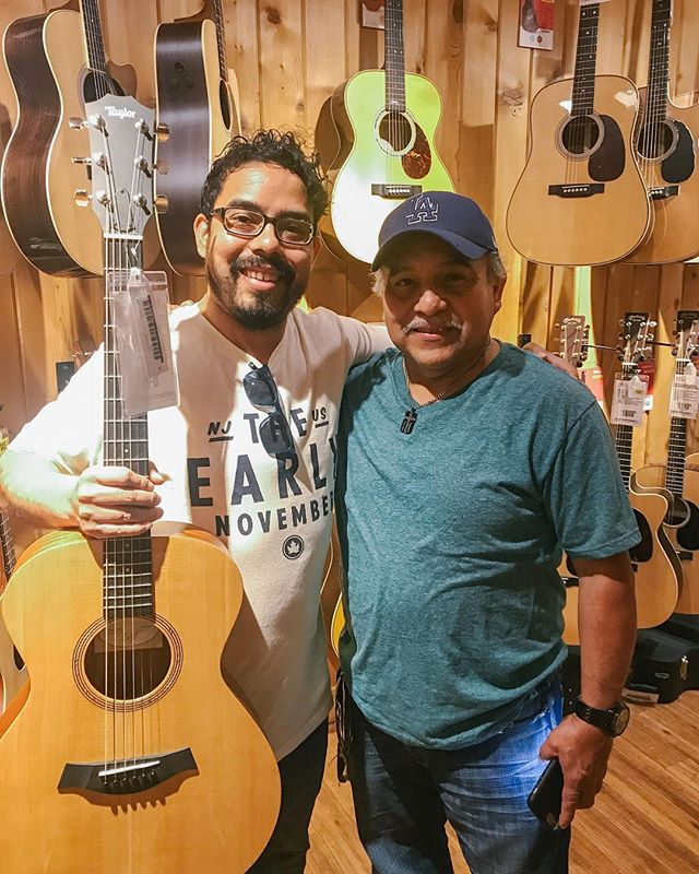 17 years ago we came to this very same guitar center (sunset blvd) to buy my first guitar. As I've got older the majority of my money has gone to bills and business expenses (camera gear). Although I've always said I will eventually buy this guitar I probably wouldn't have done it without the encouragement of my dad. Thanks pops. 🙏🎼🎸#guitarcenterhollywood @angelicahmanrique