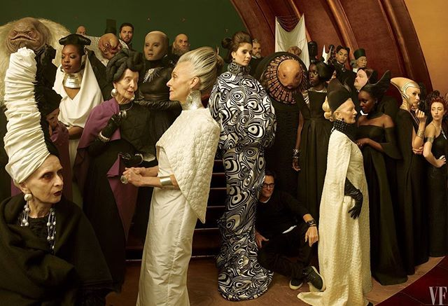 Can it be December already. Summer is over rated. Here is a new image of Michael Kaplan seated (hiding) amongst some of his incredible costume design for The Last Jedi. #starwars #thelastjedi #costume #costumedesign #film #fashion #vanityfair