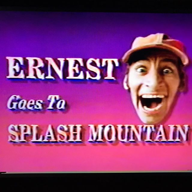 Ernest flicks have been added to Amazon Prime! Does anyone remember the TV special where Ernest is the first person to test ride Splash Mountain at Disneyland? This of course is not on Amazon but clips exist on YouTube. If you are an Ernest fan it's definitely worth a watch. Varney's physical and facial expression based humor is at its best.