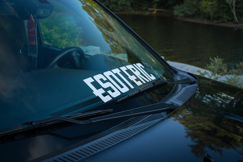 Esoteric Society Decal on Car
