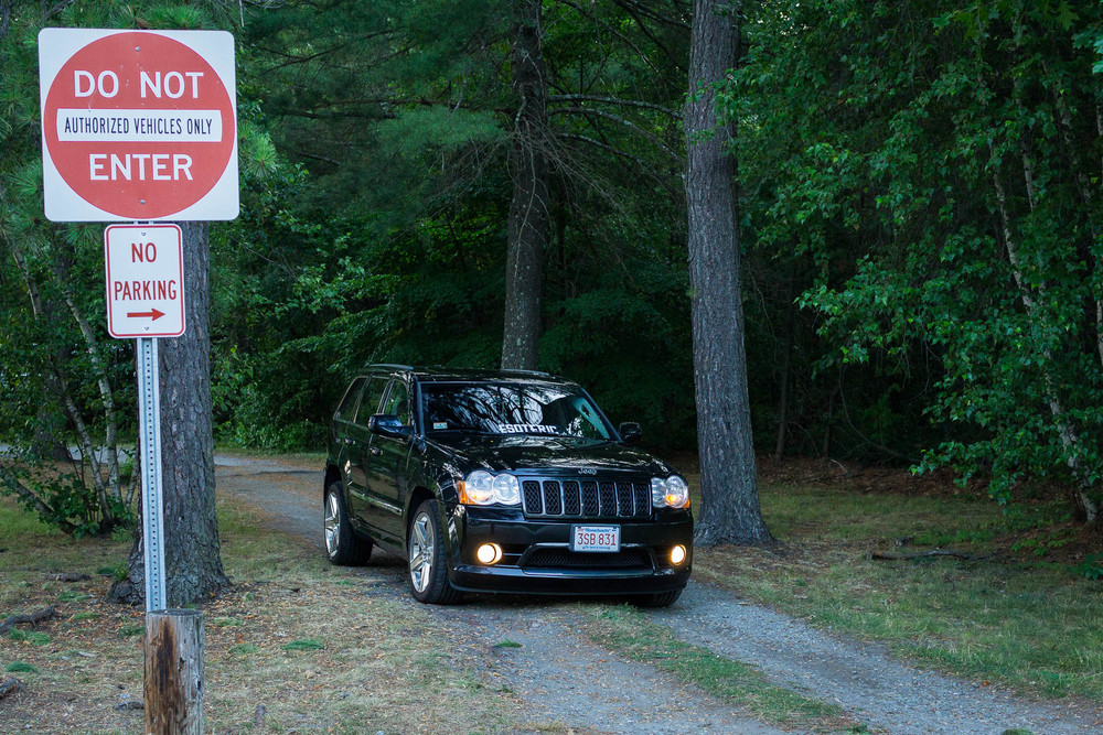 Jeep By Do Not Enter Sign