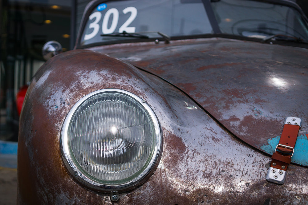 Porsche 356 headlight detail
