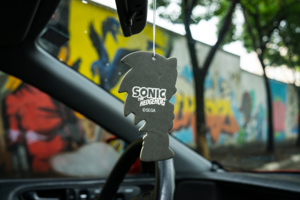 Sonic the Hedgehog rear mirror ornament