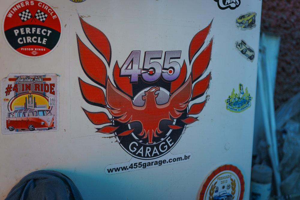 The 455 Garage emblem