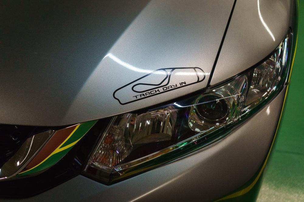 Hood of a Honda Civic