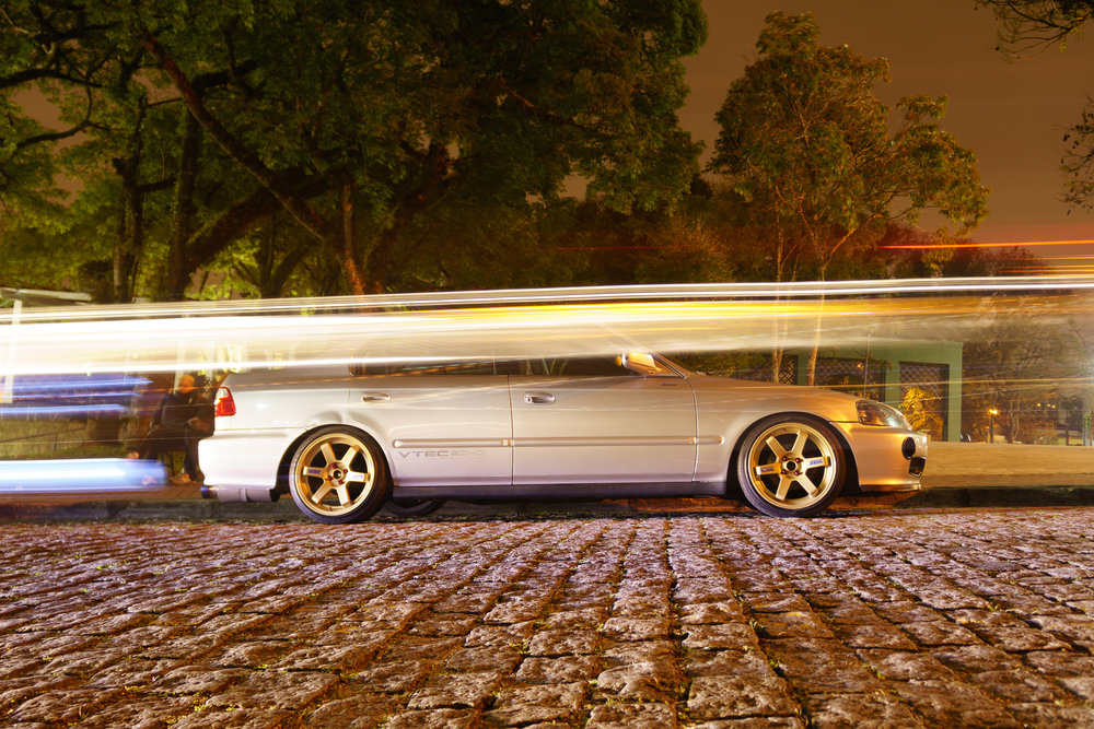 Ezequiel's Civic With Light Streaks In front of It