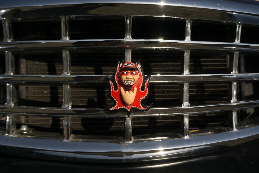 The Nash custom front emblem