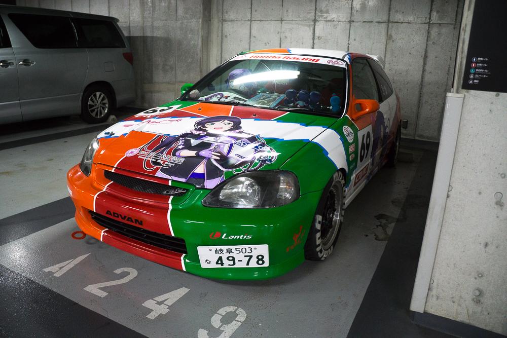 Itasha 5th Generation Civic Akhibara DX Parking Garage