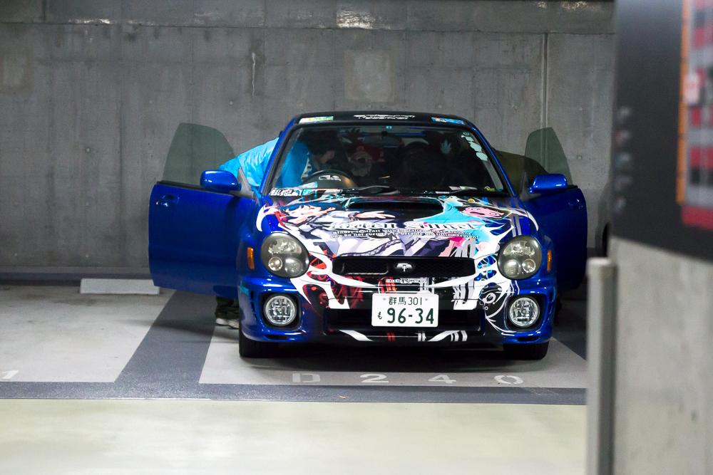 Itasha Subaru WRX Akhibara DX Parking Garage