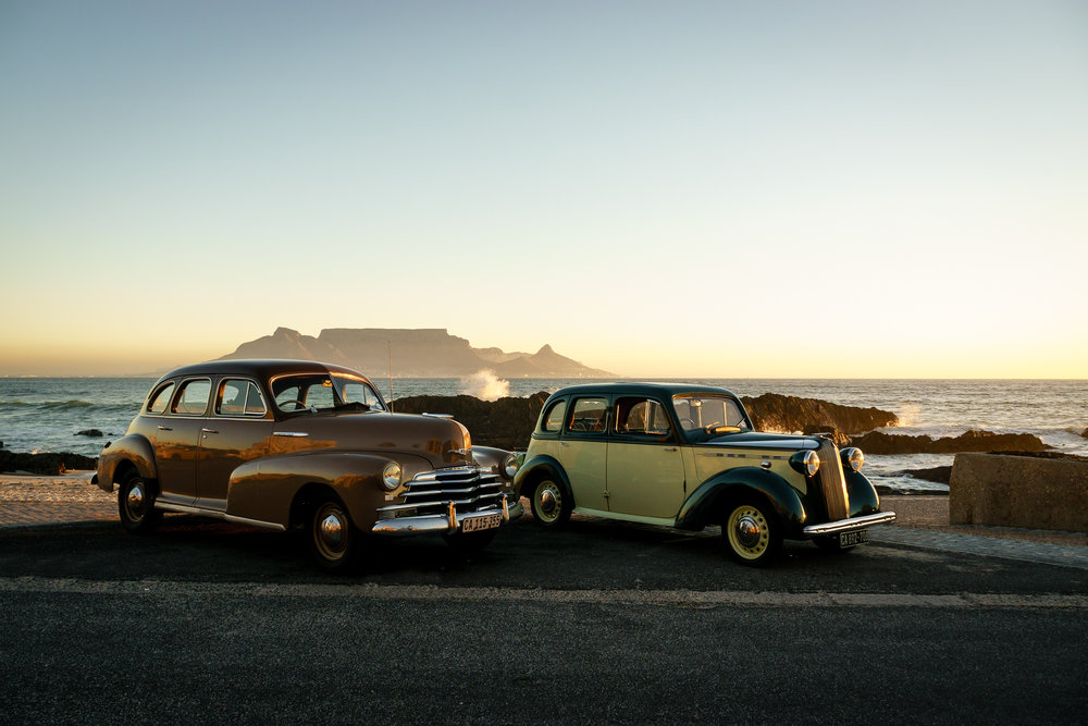 1947 Chevy Fleetmaster and 1939 Vauxhall 10-4 at Table View