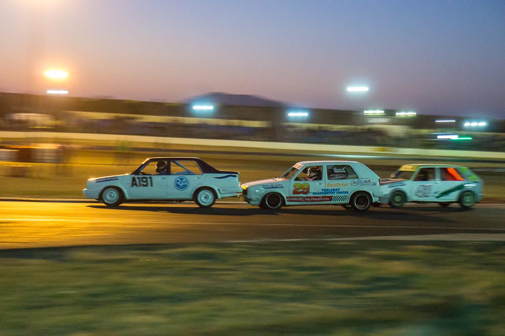 Bumper to bumper racing