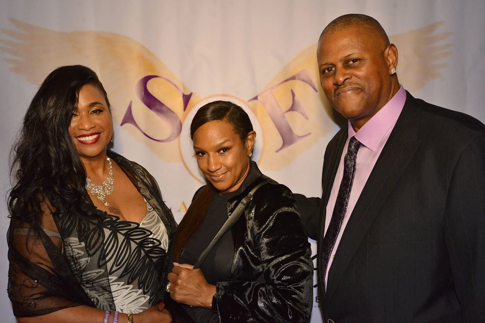 """Founders Crystal and Gary Carpenter and Mistress of Ceremonies Jackie Christie star of the hit reality show """"Basketball Wives LA"""""""
