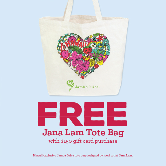 Jana Lam x Jamba Hawaii • hand drawn artwork by Hawaii-based designer Jana Lam for Jamba Juice Hawaii