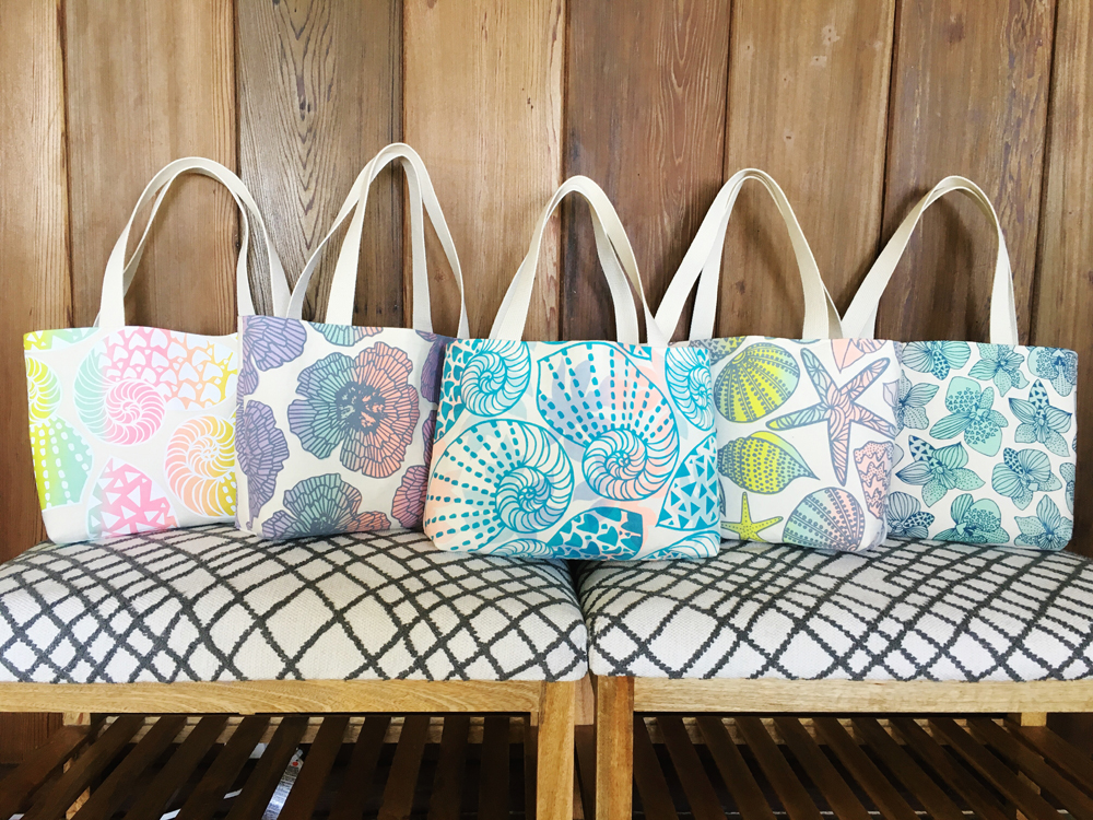 Hitting the Beach with Jana Lam Beach Bag totes