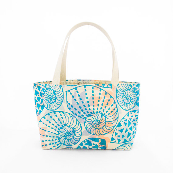 Jana Lam Beach Bag - Swirly - Made in Hawaii