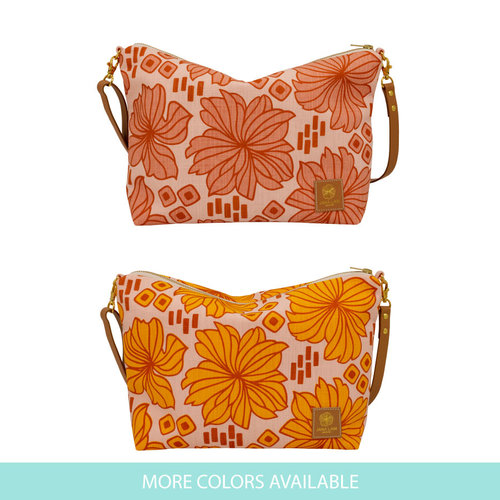 Slouchy Cross Body • Retro Blooms • Hand-printed and made in Hawai i ... d72540973fd91