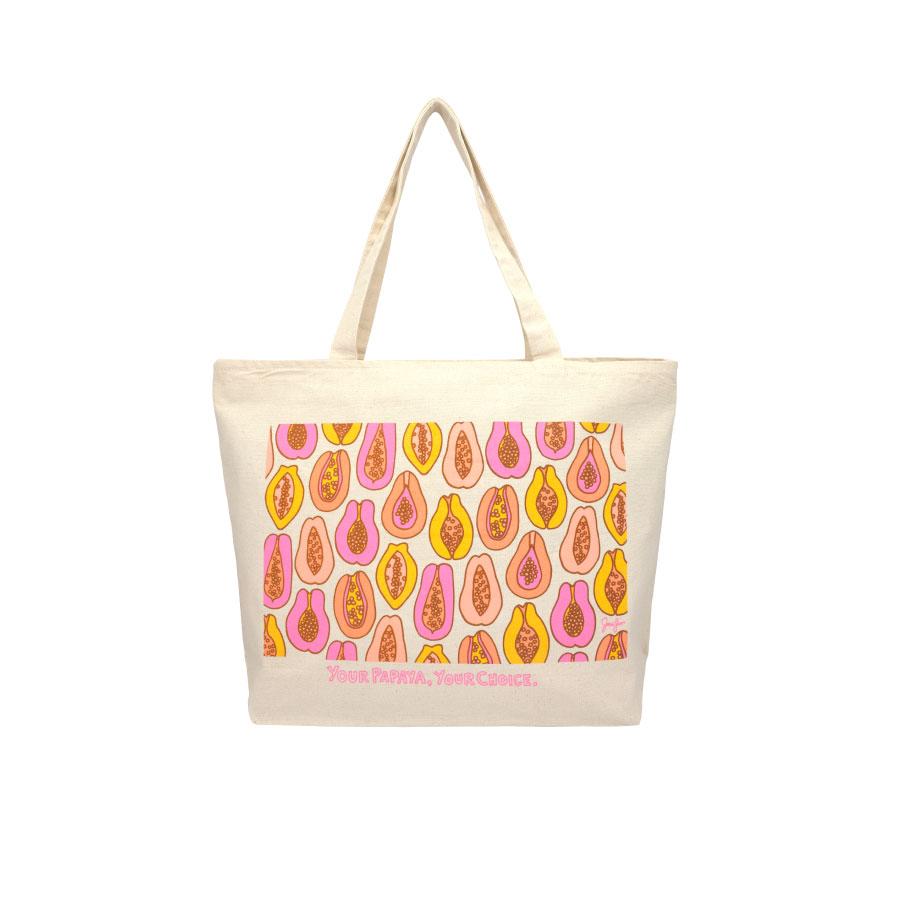 Tote • Papaya • Printed in Hawai'i — Jana Lam Hawaii • accessories for an  endless summer