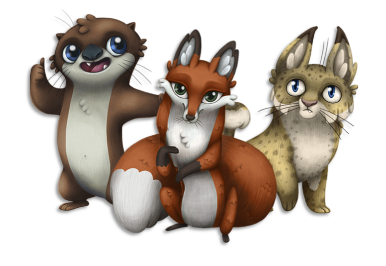 Otis the Otter, Farah the Fox, and Bob the Bobcat are the 3 stars of the Water4Otter show. Each has a different focus: Otis (water source); Bob (watershed); and Farah (wastewater).