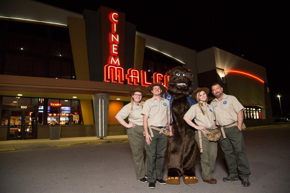 Trashsquatch and the Tri-Star Rangers visit a Nashville area cinema