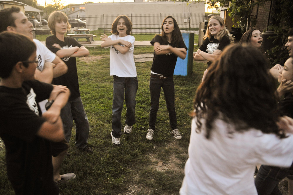"""""""get out of your head… - …and in touch with your heart"""" a famous improv saying goes. Getting students physically outside of a classroom went a long way in helping this team bond."""