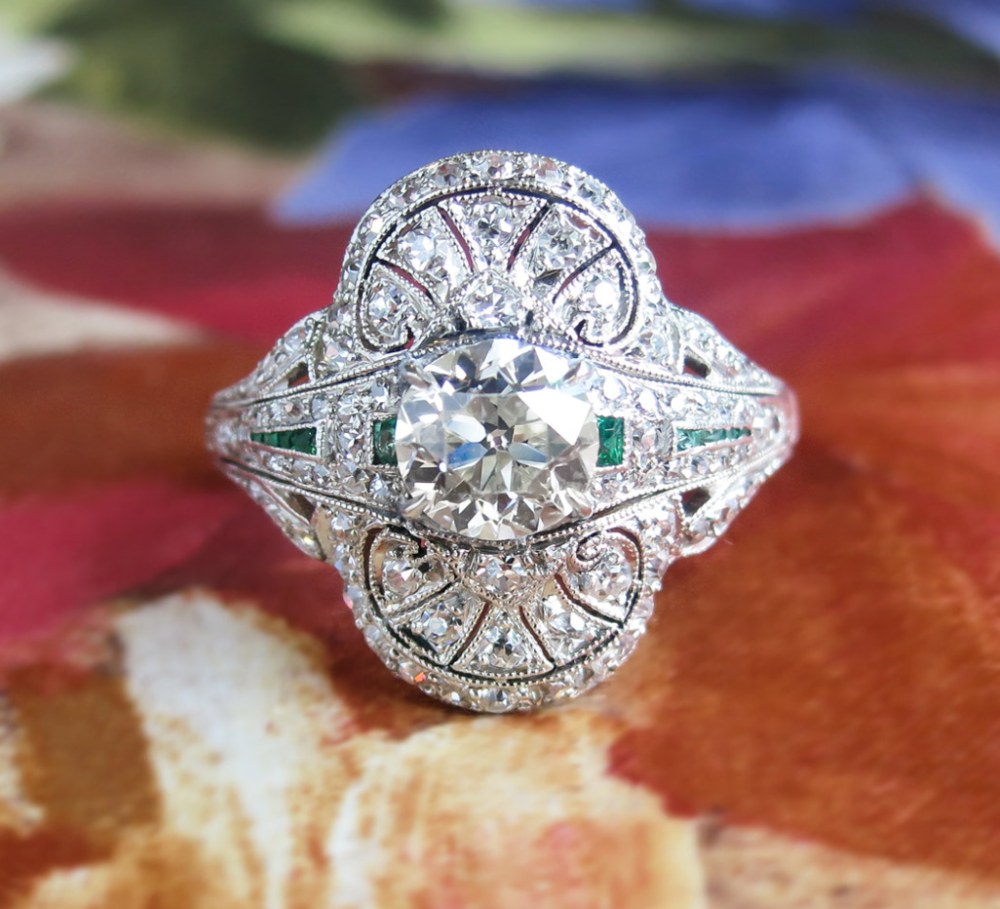 From YourJewelryFinder on Etsy- $8,800 - from the 1920s I LOVE LOVE LOVE THIS ONE.