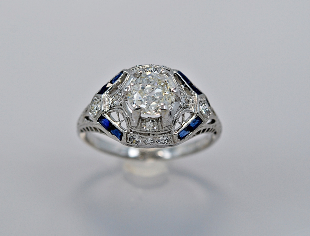 From GesnerEstateJewelry - $7,797 - from the 1930s OMG. Those sapphires.
