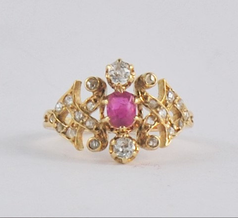 From JandHjewelry on Etsy - $1,250 - from the 1800s, Ruby and Diamonds So pretty. Reminds me of Indian jewelry!  So gorgeous!