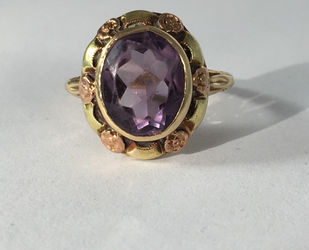 From ScotchStreetVintage on Etsy - $400 - from the 1940s, Amethyst