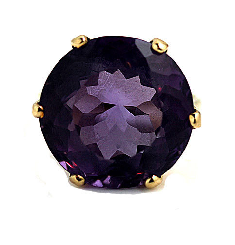 From ArtDecoDiamonds on Etsy - $750 - from the 1970s, Purple Spinel Can you tell I love the purple stones with gold bands yet?