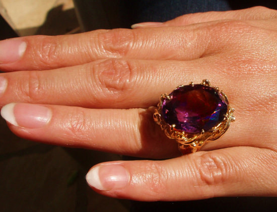 From CAGirlJewelry on Etsy - $3,500 - from the 1910s, Amethyst Starting with this first because this is my ULTIMATE favorite! I'm seriously working on talking my husband into getting this for me...not sure how well that's going.....but I'll let you know when he stops laughing....