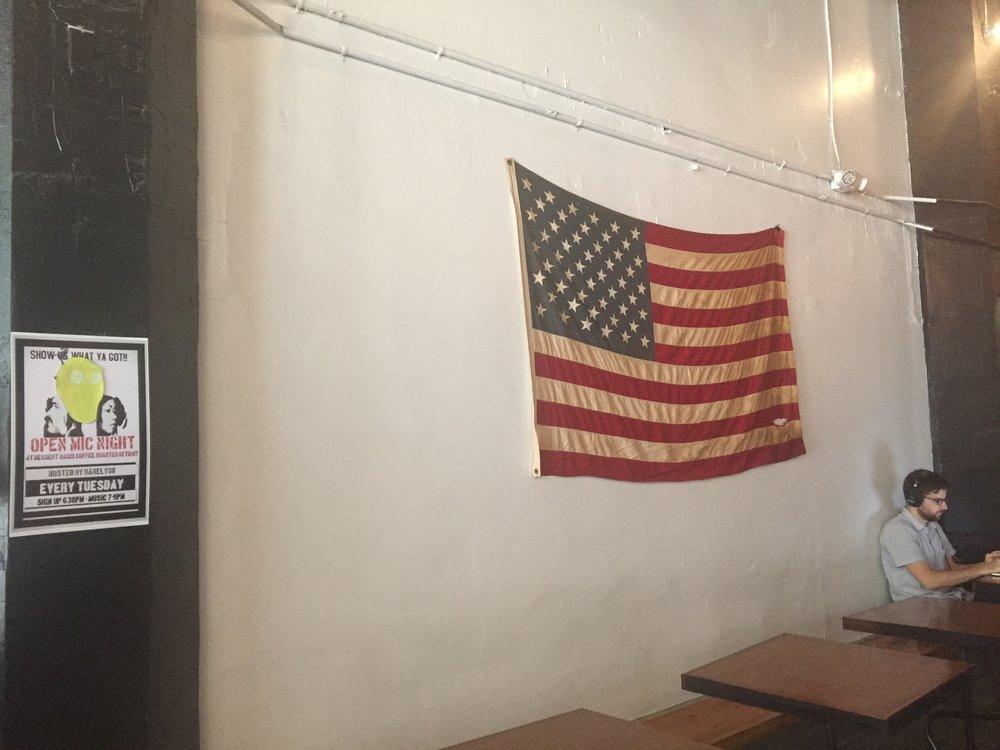 Vintage-y American flag.